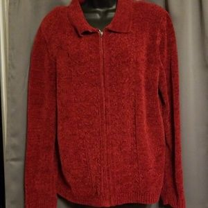 Alfred Dunner zip up sweater size L
